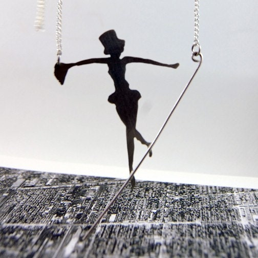 Sterling Silver Tight Rope Walker Pendant by Markhed