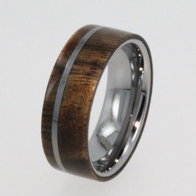 Wood Tungsten Bands: Tungsten Carbide Rings / Tungsten Wedding Wood By