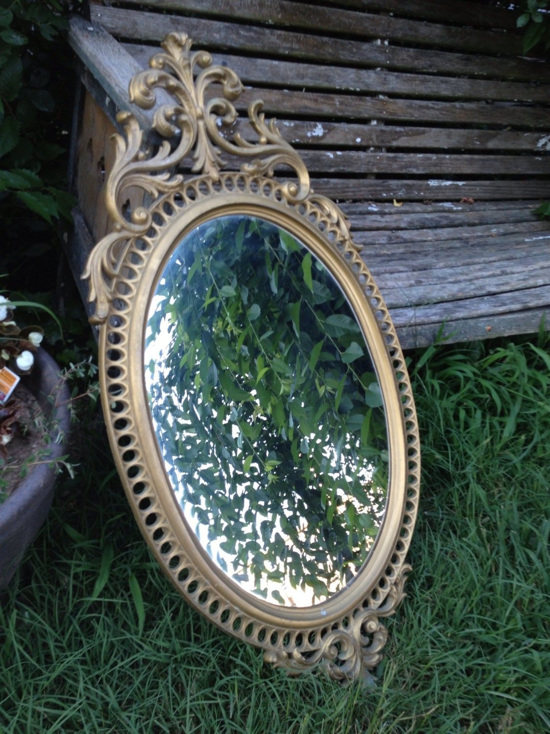 vintage ornate burwood homco home interior gold by thecherrychic