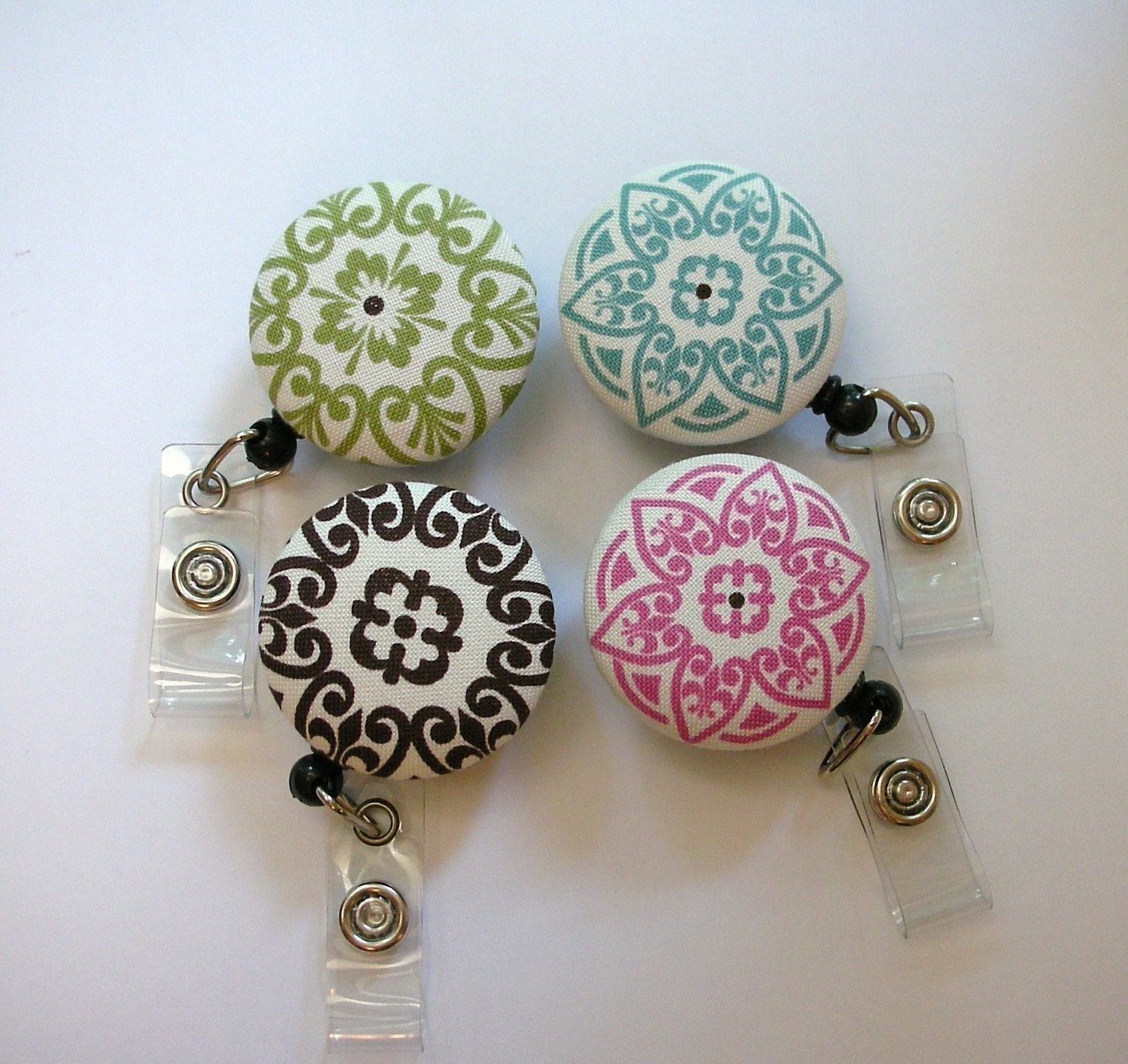 MODERN CHIC----CHOOSE FROM 4 DESIGNS--- RETRACTABLE ID BADGE REEL----