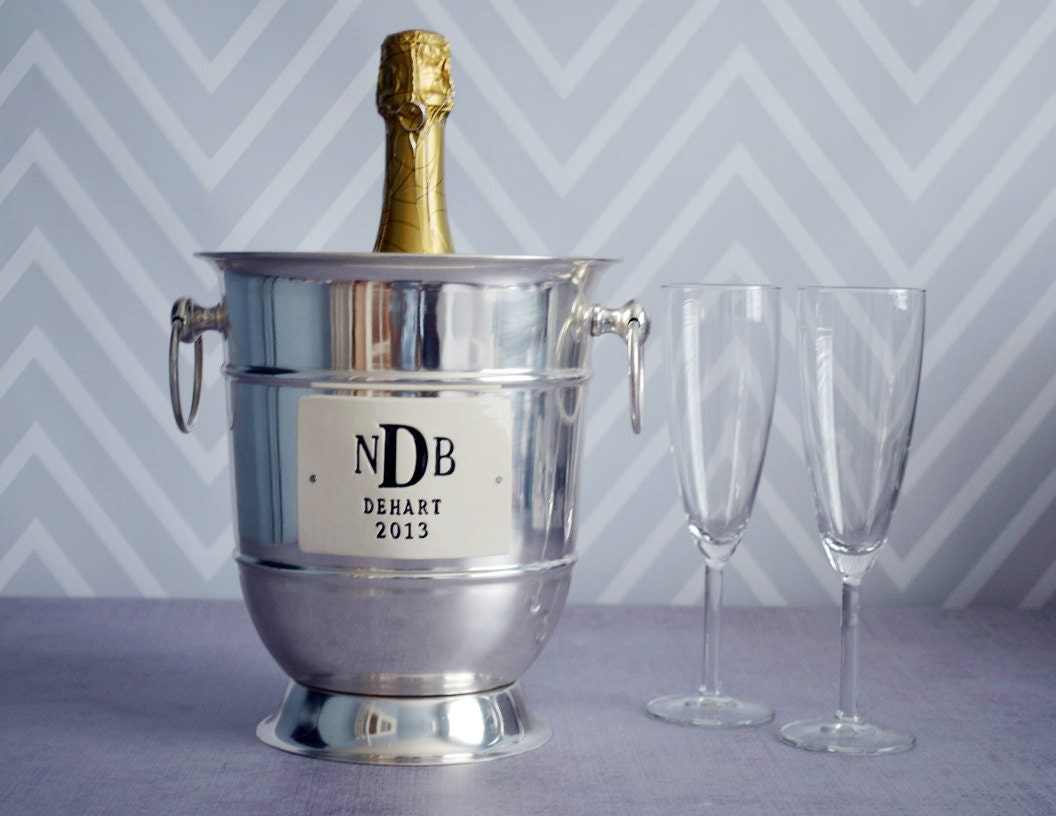 Personalised Wedding Gift Champagne : Personalized Wedding GiftStainless Steel Champagne Bucket wtih ...
