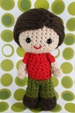 Crochet Pattern- Scott, an amigurumi little boy doll