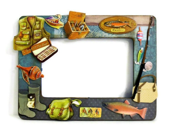 Example custom made to order fishing lures by auriesdesigns for Fish photo frame