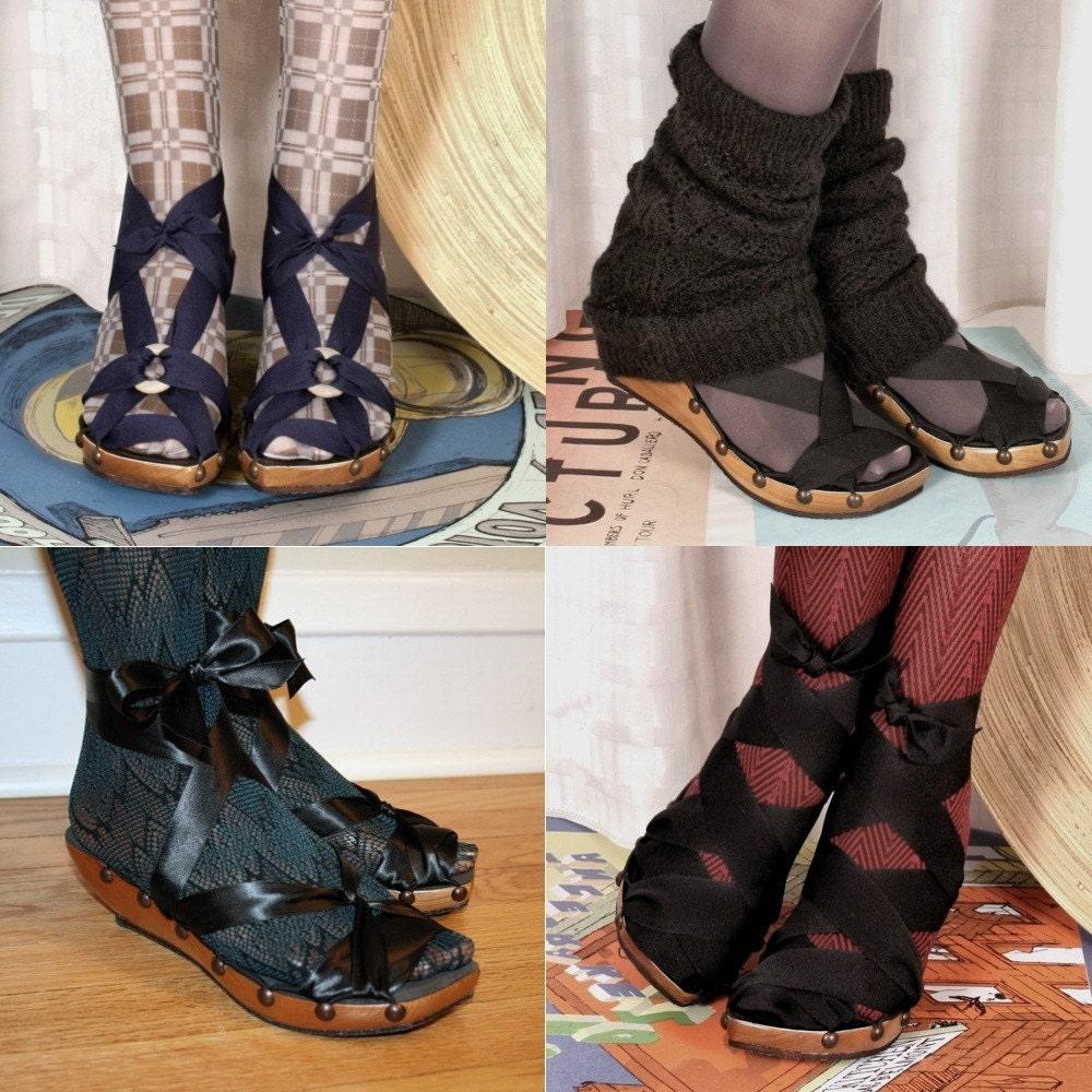 "8W اندازه -- گیلاس 2 ""PeepToe گوه Mohop کفش دستباف"