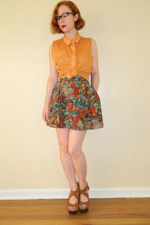 vintage leaf skirt