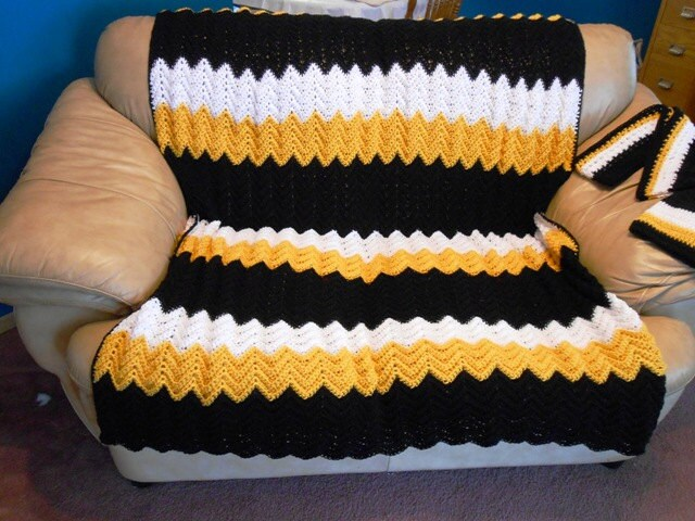 Crochet Pattern Steelers Afghan : Crochet Steelers Afghan submited images.