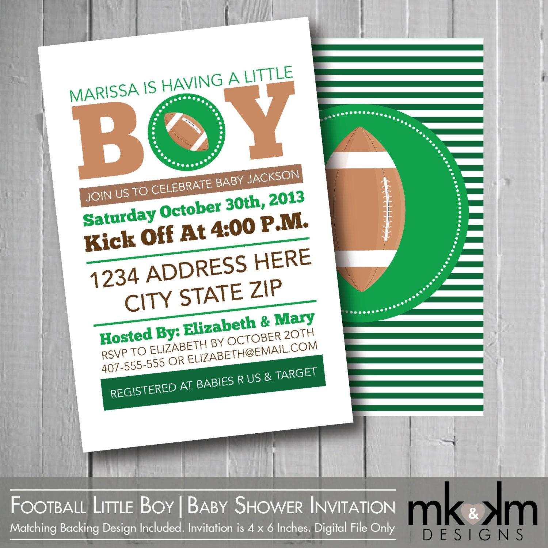 Football Baby Shower Invitation : Little Boy By MKKMDesigns