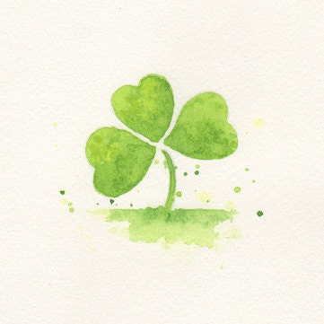 Clover Clover Painting Art Wall Art Minimalist By Chifungw