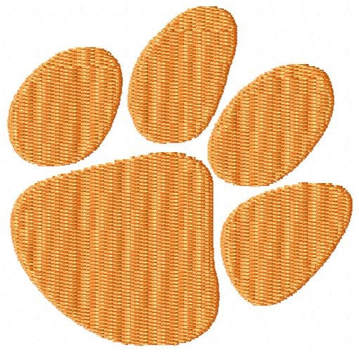 Tiger Paw Print Embroidery Design