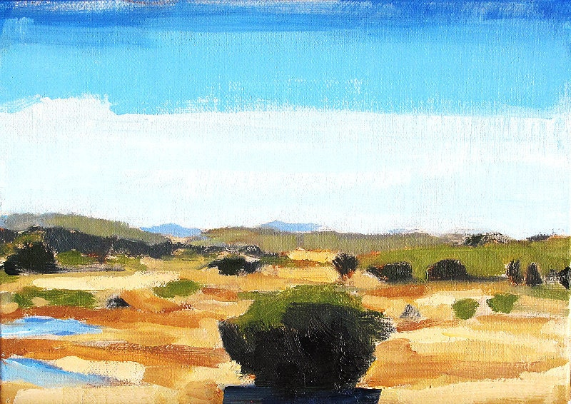 East County San Diego California Landscape Painting by Kevin Inman Art