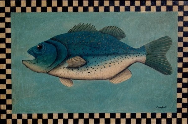 Largemouth Bass Giclee Print by Tim Campbell
