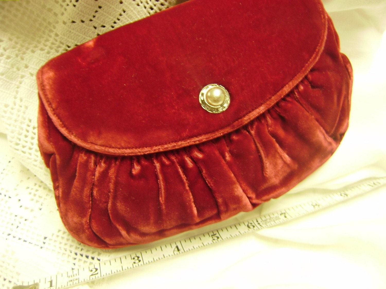 Vintage Velvet Clutch