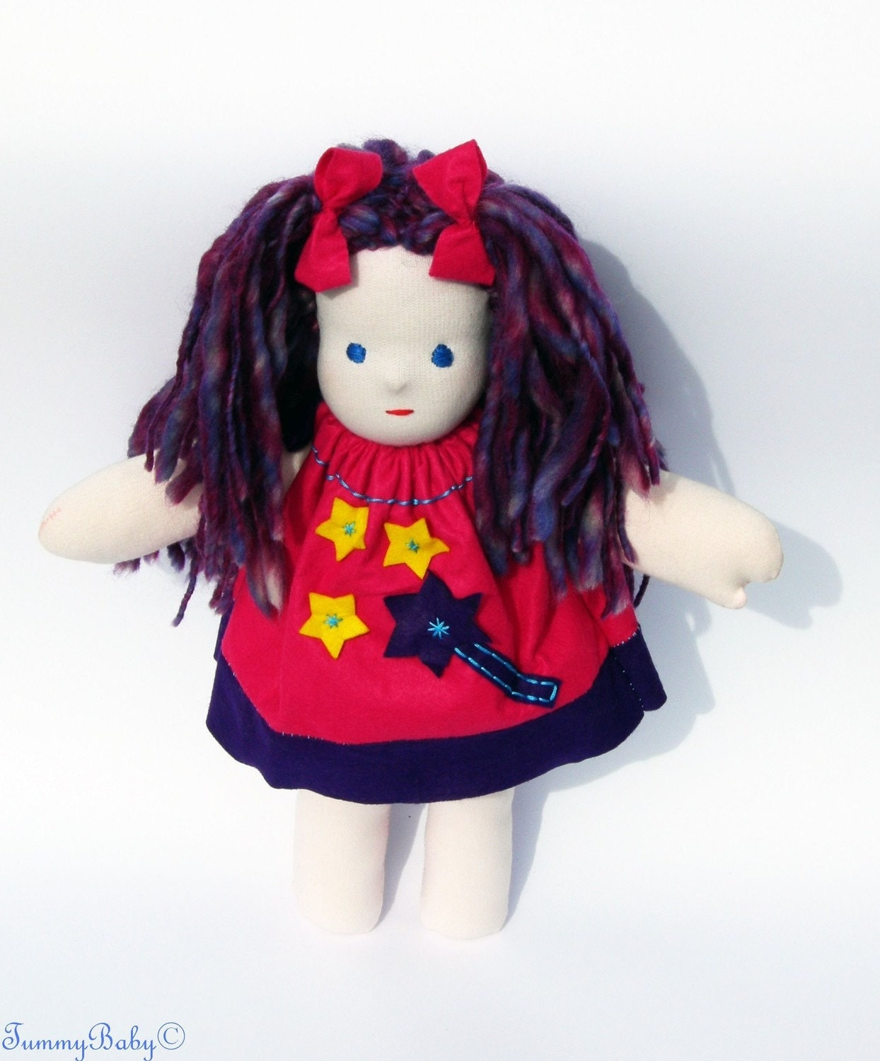 Waldorf Doll / Ragdoll Violet Fairy - 17 inch 7% from the price goes to HELP JAPAN