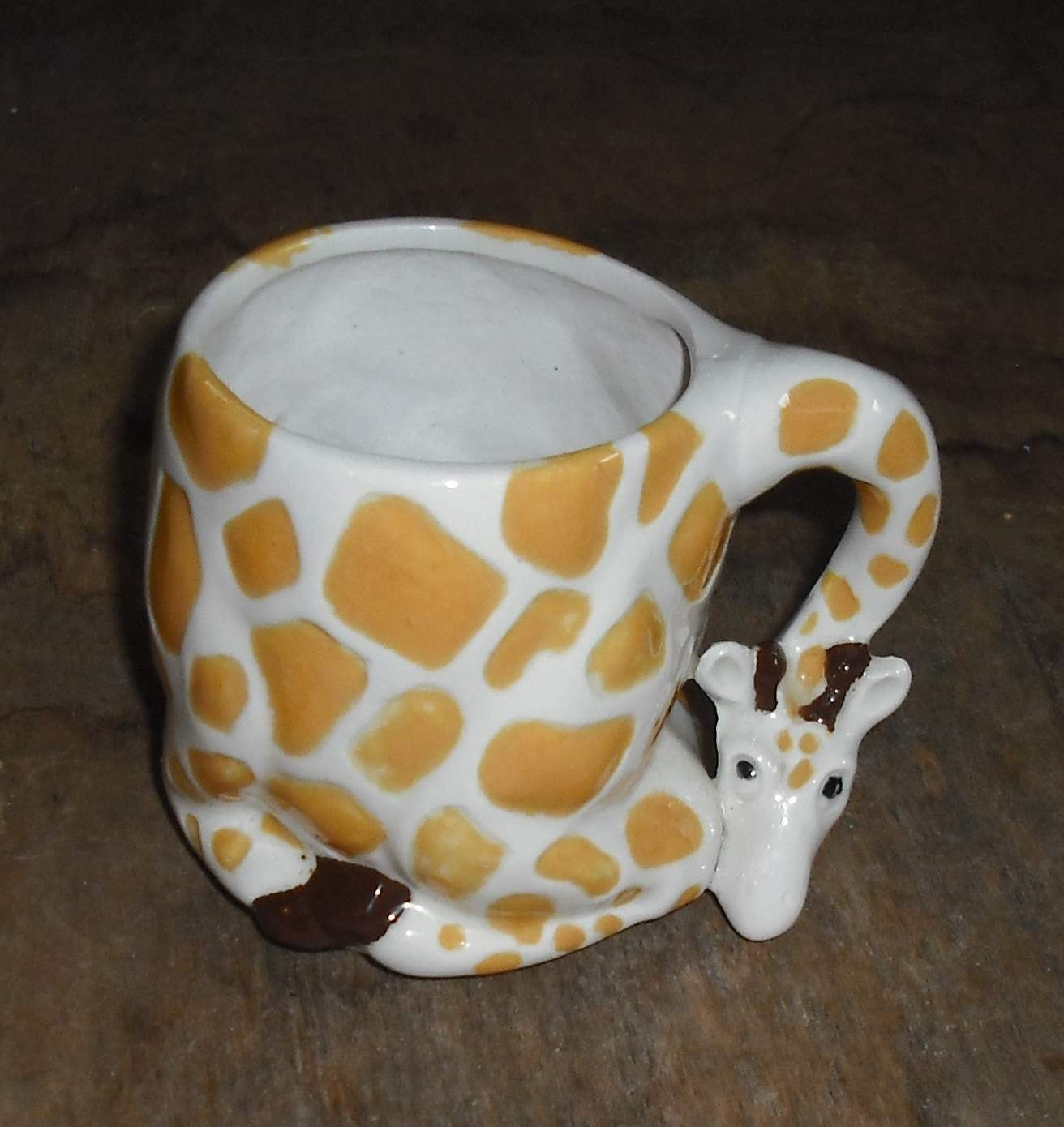 Vintage giraffe shaped mug cup spotted animal zoo neck by for Animal shaped mugs