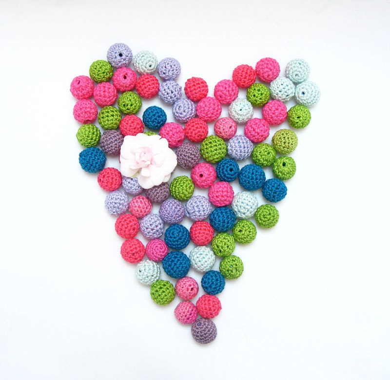 Pick Your Own Set of Crocheted Beads on Etsy