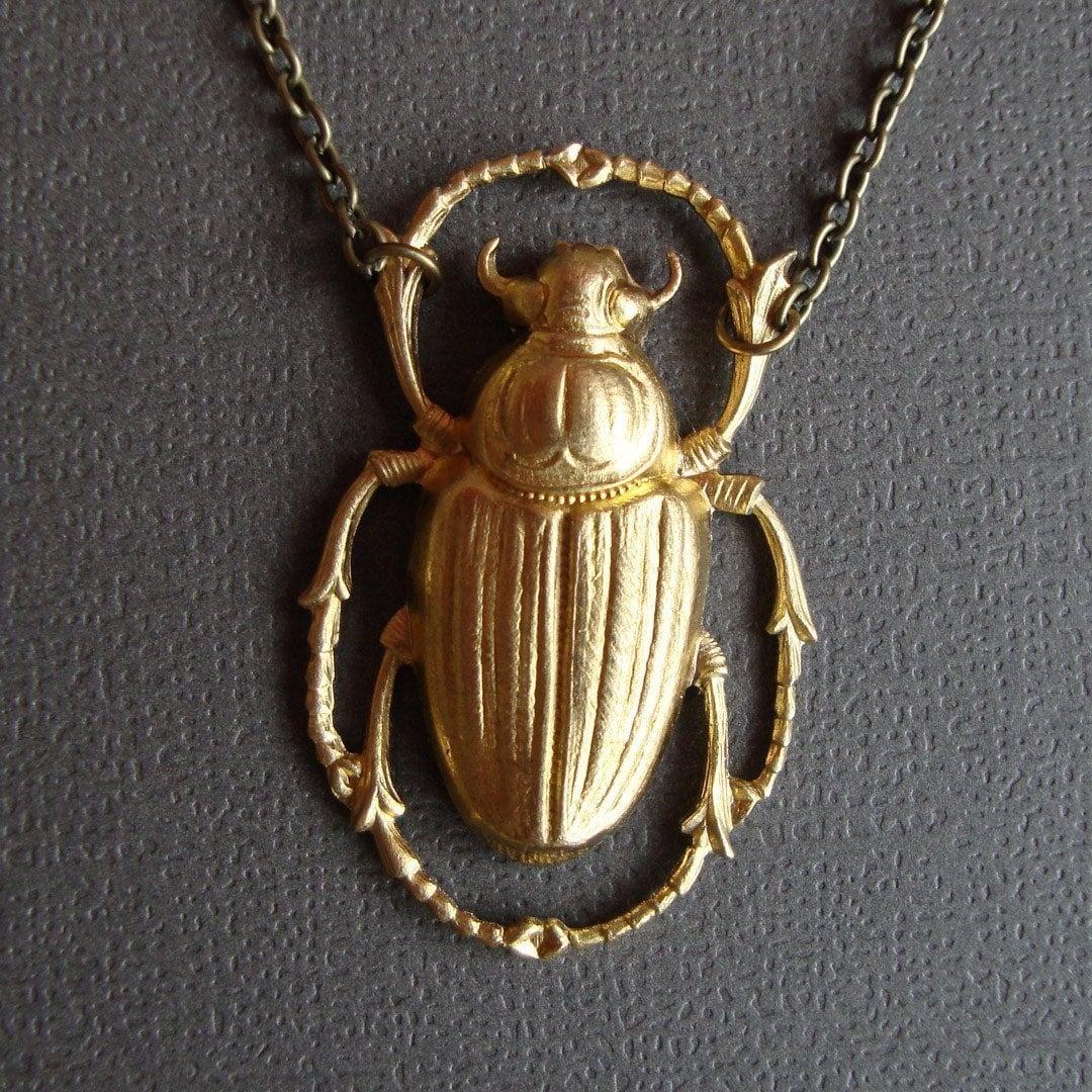 Large Brass Scarab Beetle
