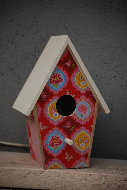 BirdHouseLamp - (Pink/Flowers/Birds)