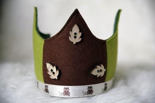 Wool Felt Crown - Owls