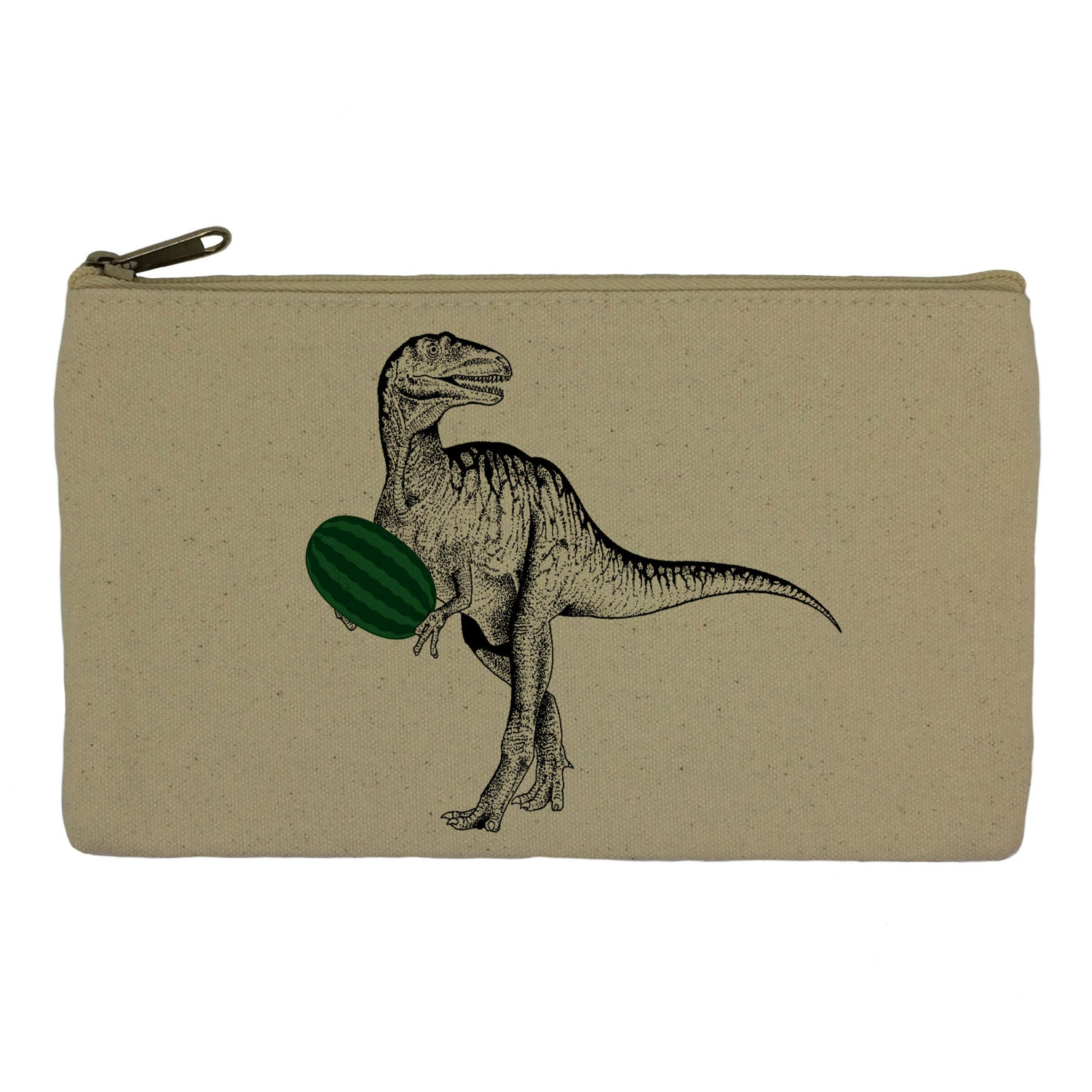 Pencil case stationary dinosaur with watermelon pencil pouch canvas bag pencil holder make up bag school supplies