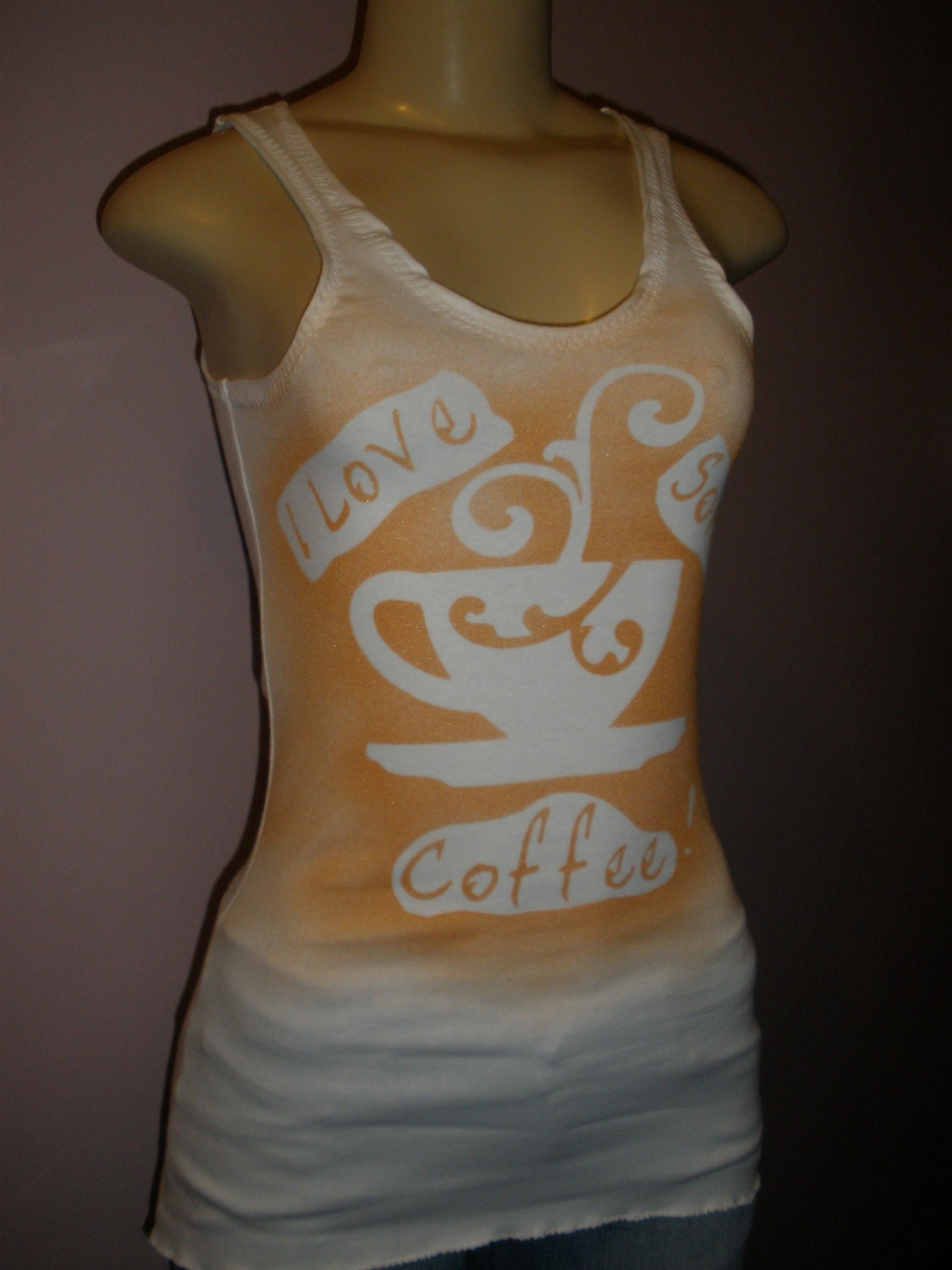 Fun Wearing Sleeveless Tank Top with Unique Message ( I Love Some Coffee ) Size Small/Medium/Large