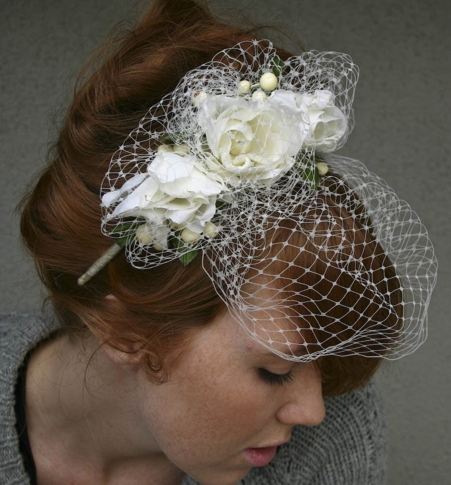 Etsy Spotlight Be Something New Bridal Veils and Headpieces