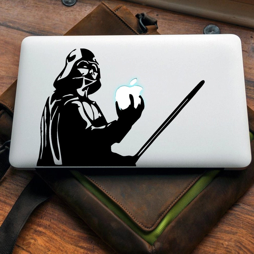 Darth Vader Vinyl decal for MAC or PC sticker print perfect gift for any computer fan! Star Wars Sith Lord The Force Apple
