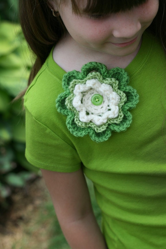 crocheted flower accessory