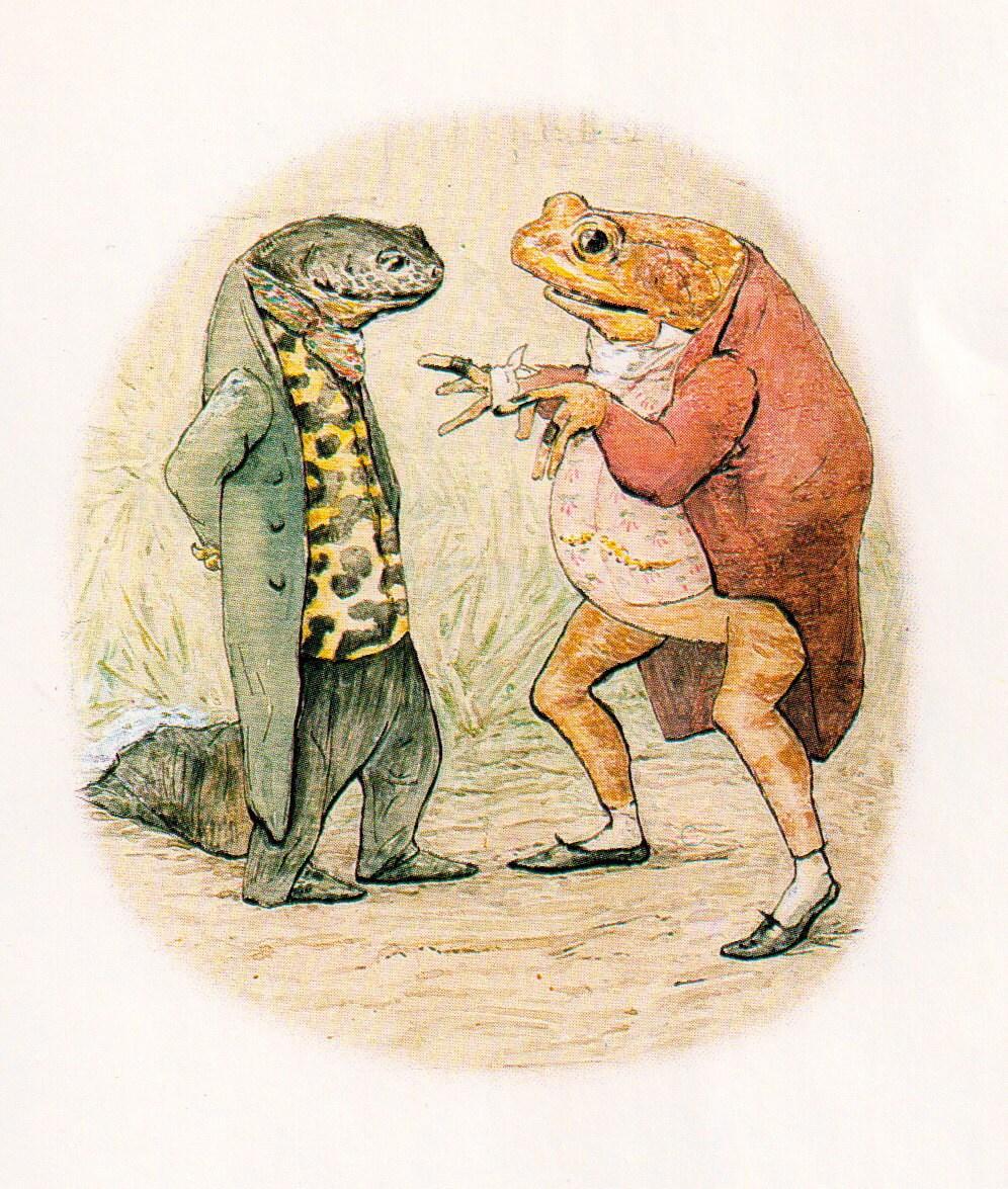 Beatrix potter frog prints tale of jeremy fisher by