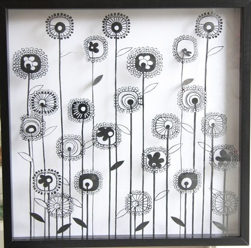 Papercuts-recortes-handcuts-Silhouette-meu girassol
