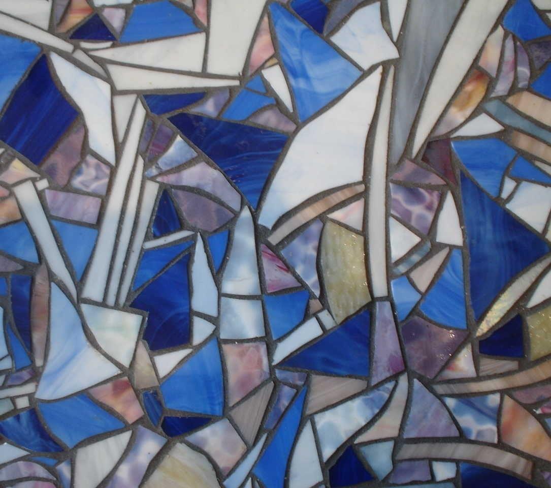 glass mosaic coffee table