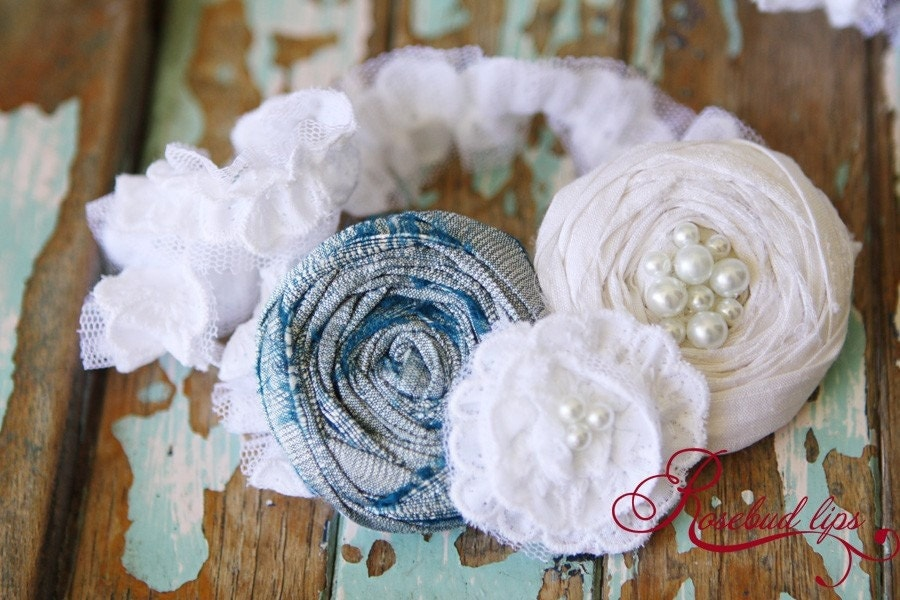 Blue Vintage Style Garter- Perfect gift for bride-to-be