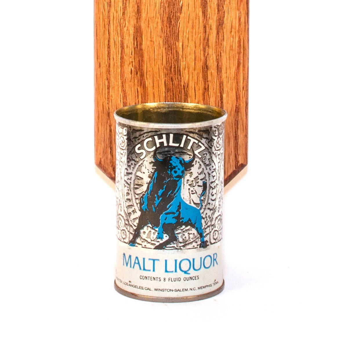Schlitz Malt Liquor Wall Mounted Bottle Opener With Blue