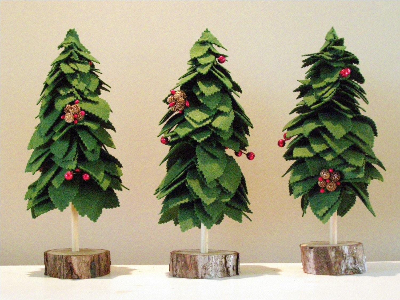 Set of 3 Evergreen Festive Trees