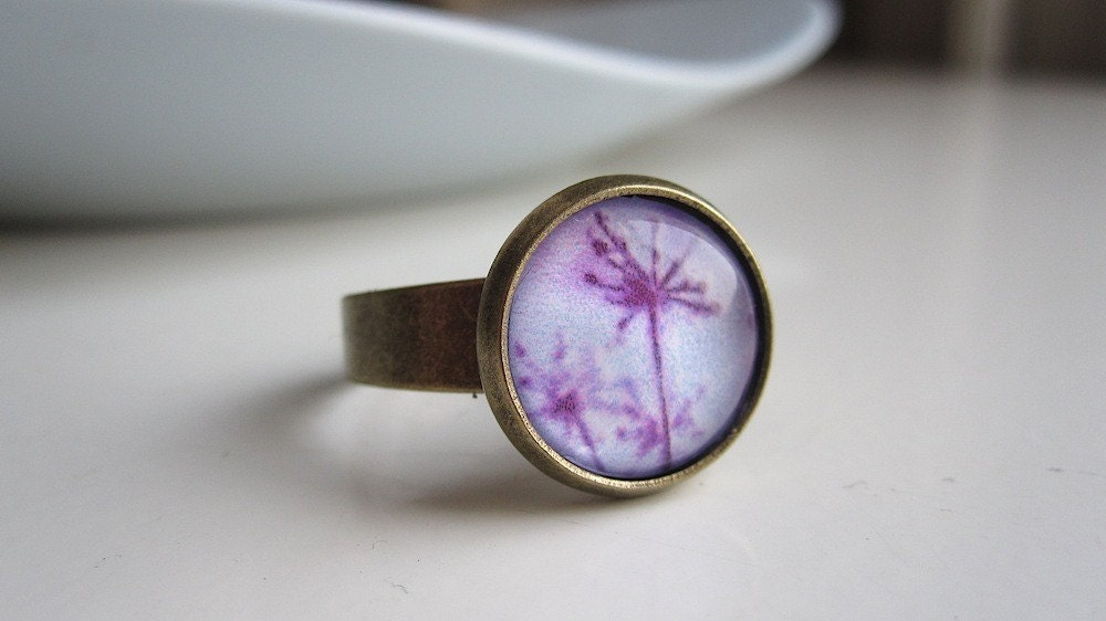 purple star plant ring