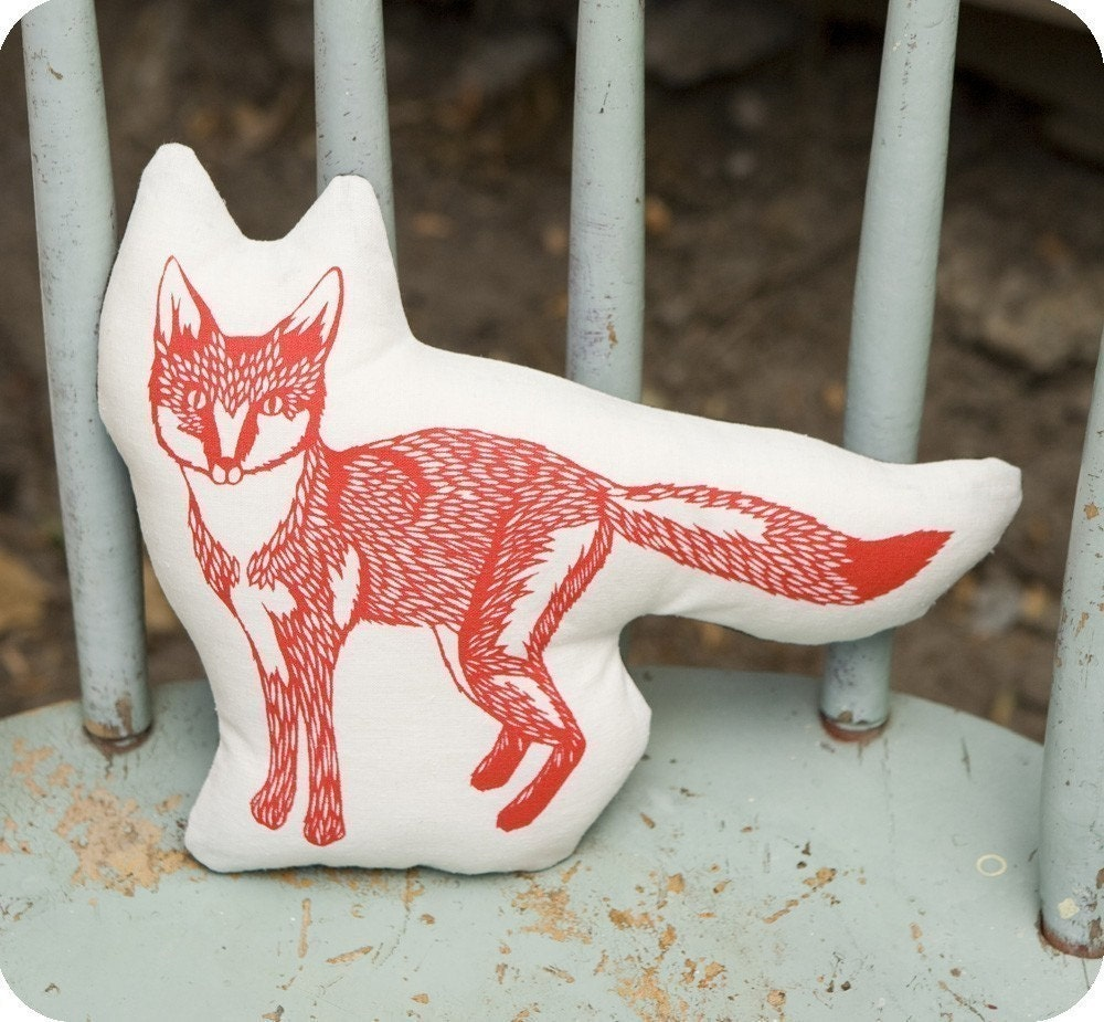 fox stuffie .  organic