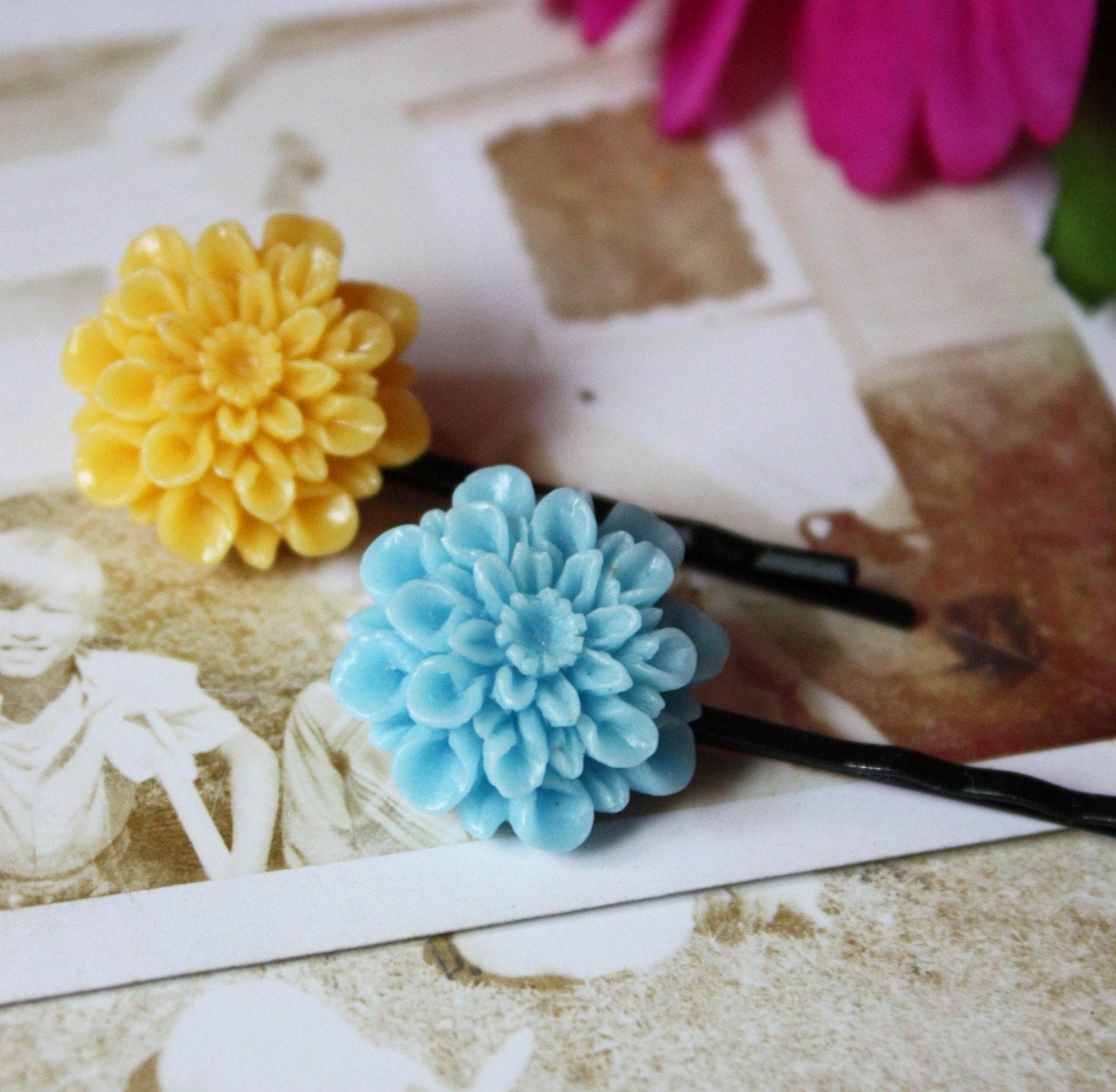 Chrysanthemum Hair Pins-set of 2