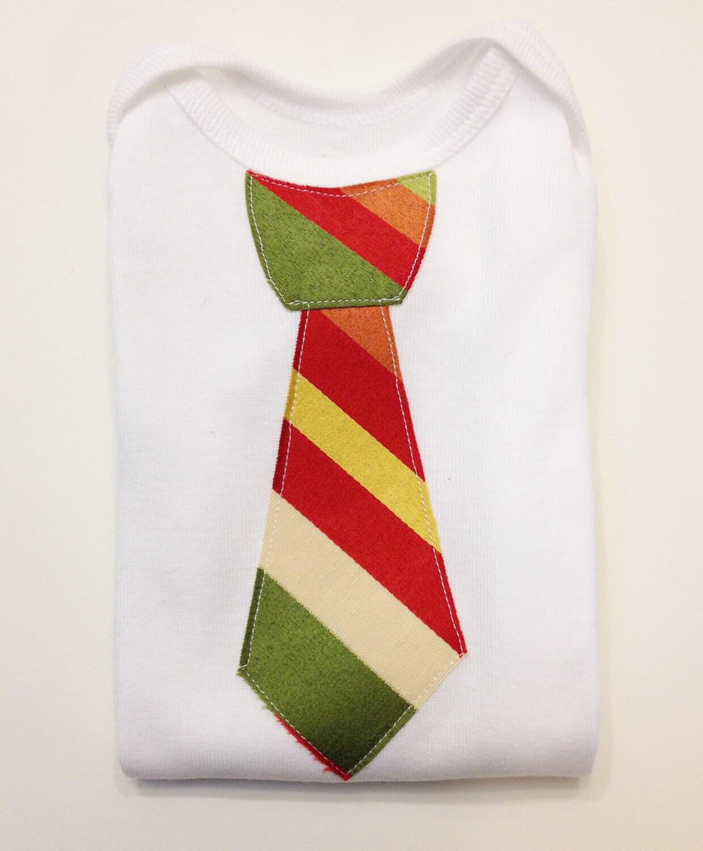 Christmas Tie Onesie - Lil' Man Tie Onesie - SweetSeraphina