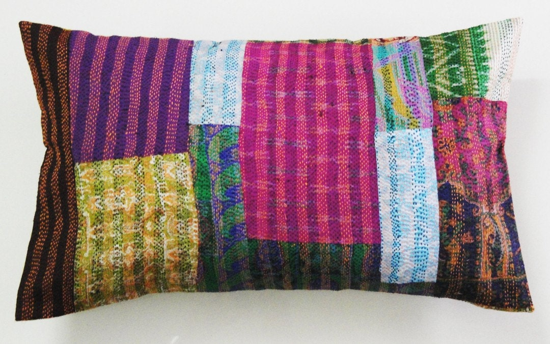 Kantha Silk Cushion