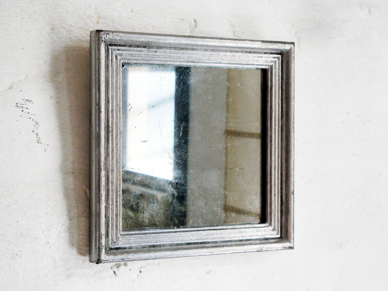 Silver Square Mirror, Vintage Frame - theframeandmirror