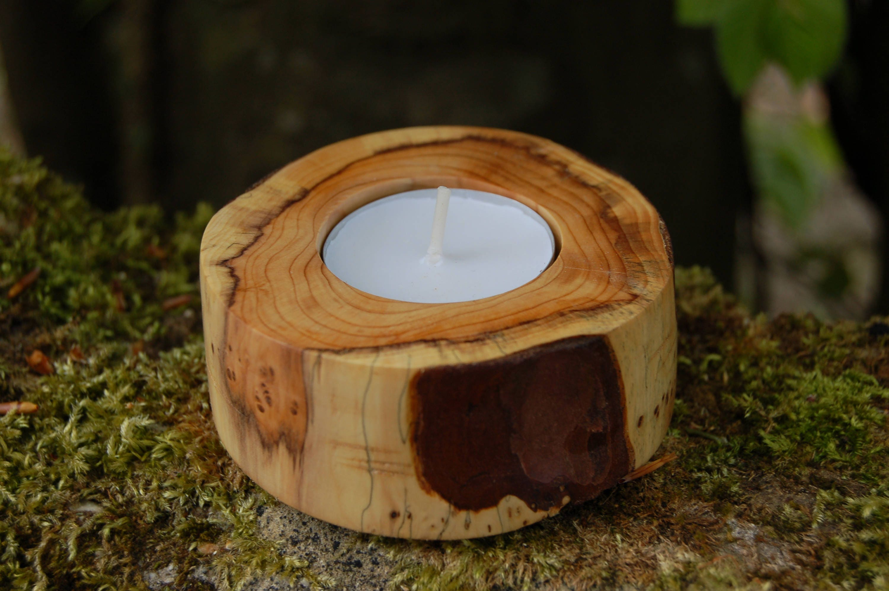 Tealight Holder Yew Tea Light Holder Candle Holder Wooden Tealight Holder Wooden Tea Light Holder Yew Wood Candle Holder New Forest