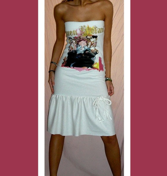 SALE - Venni Caprice Gwen Stefani White Punk Rock Goddess Dress S