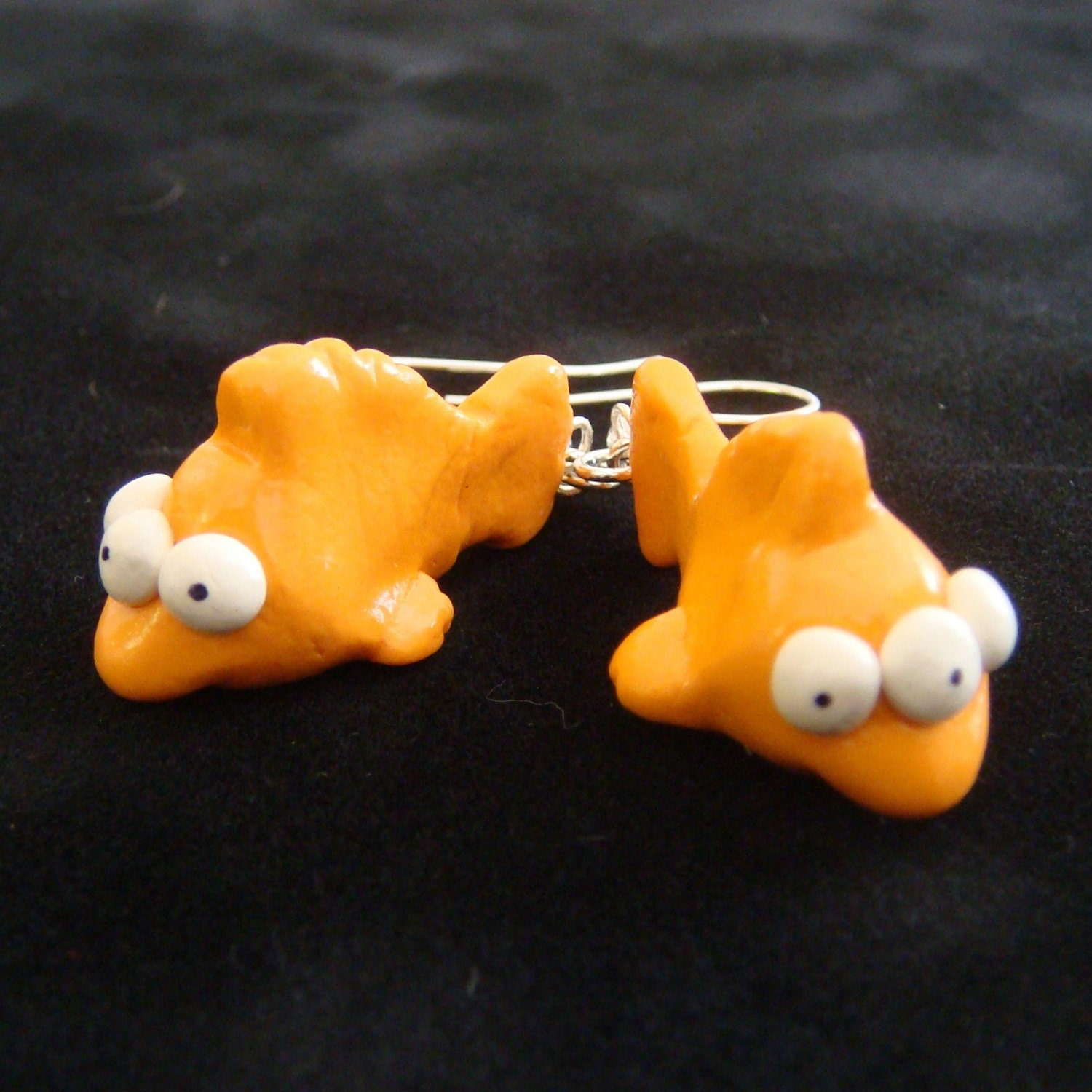 Blinky from the simpsons earrings the by theclaycollection for Blinky the fish
