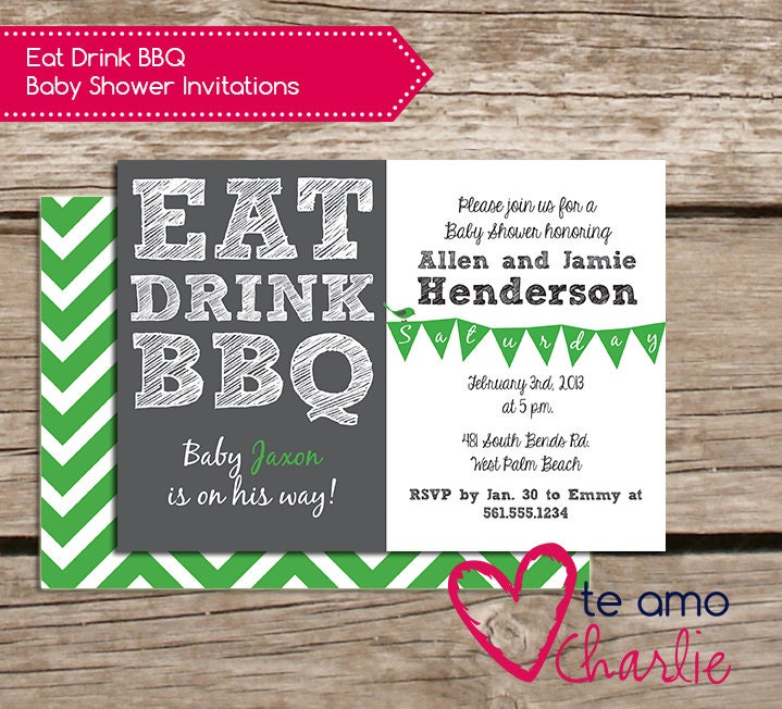 drink bbq baby shower invitations printable baby shower invitations