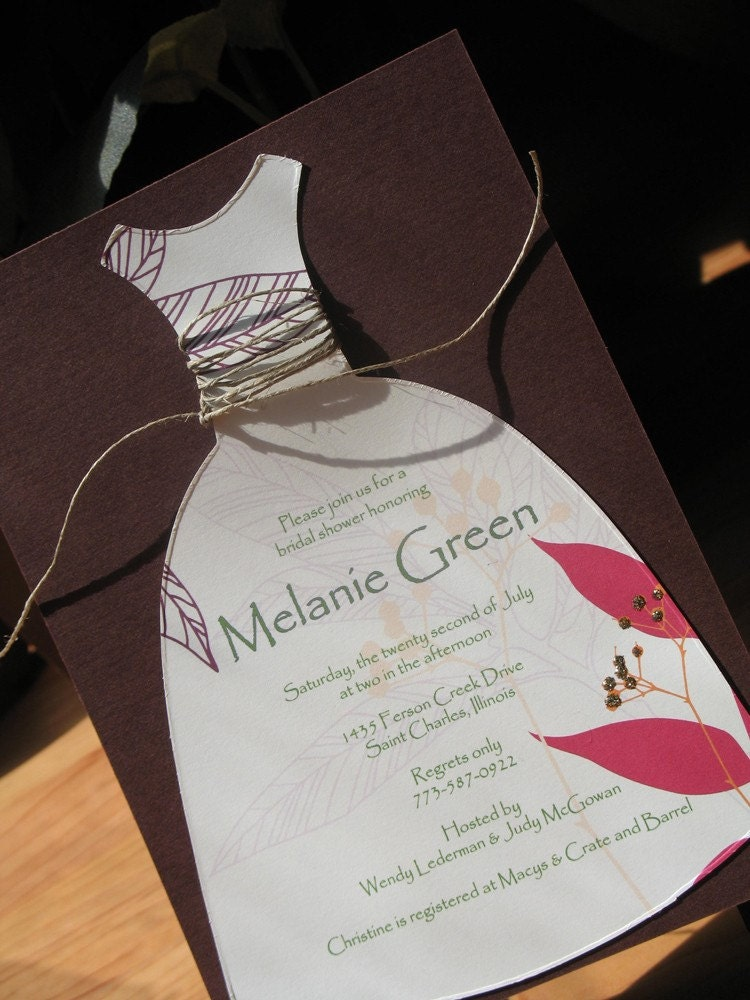 Dress 4 - Wedding Shower Invitation