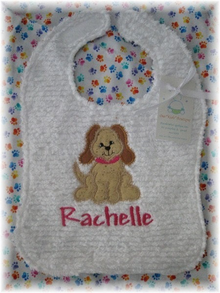 Best Friend Puppy Dog Toddler Baby  Bib