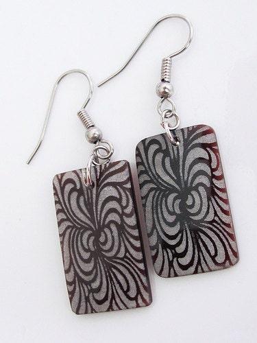Handmade Geometric Asian Inspired Earrings