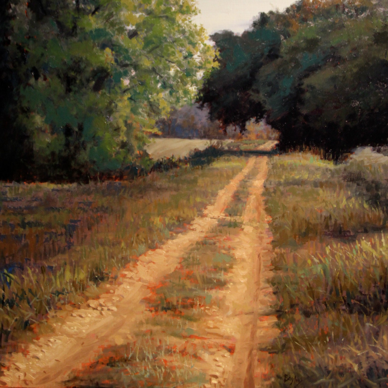 oil painting landscape dirt road near decatur 24 x24 quo