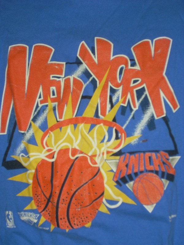90s NEW YORK KNICKS T SHIRT VERY RETRO. From rumpledsuit