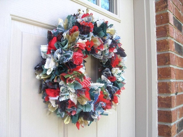 Fabric Wreath - Festive Celebration (no1029)