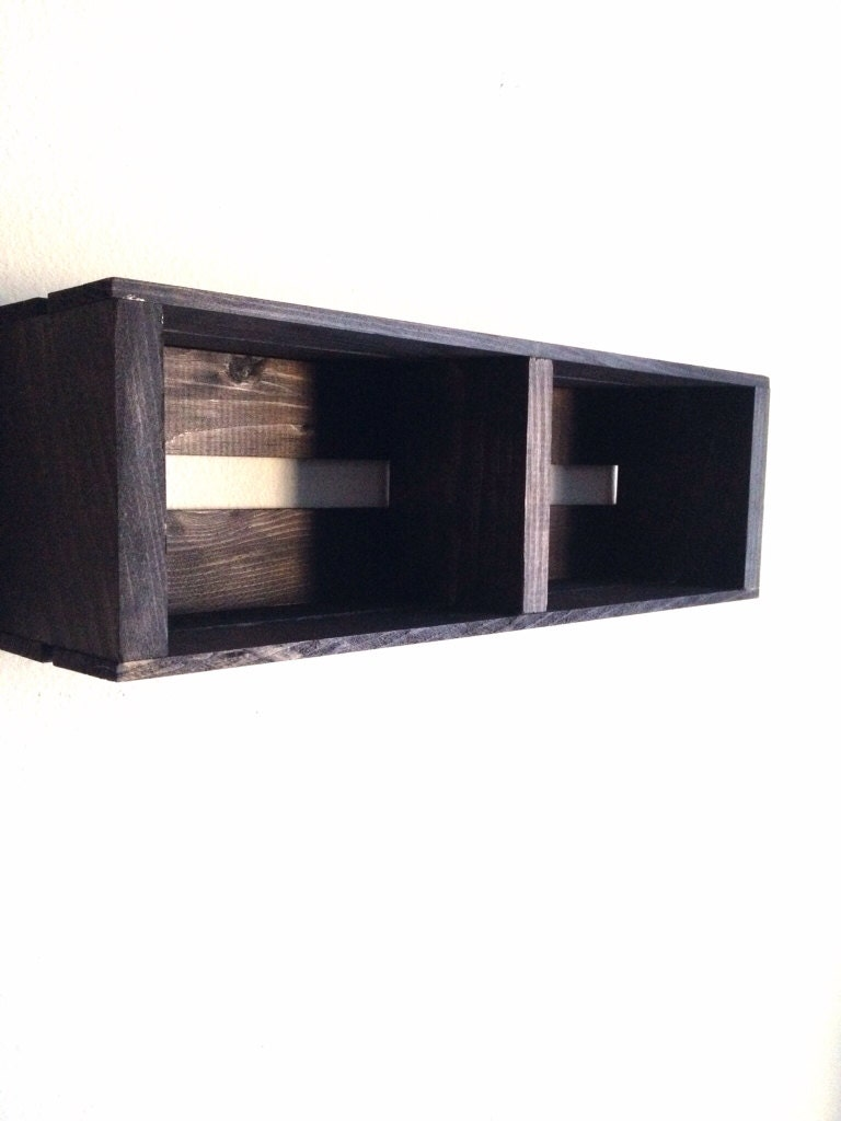 Sale Small Wooden Crate Hanging Split Shelf Wall By Cldecor